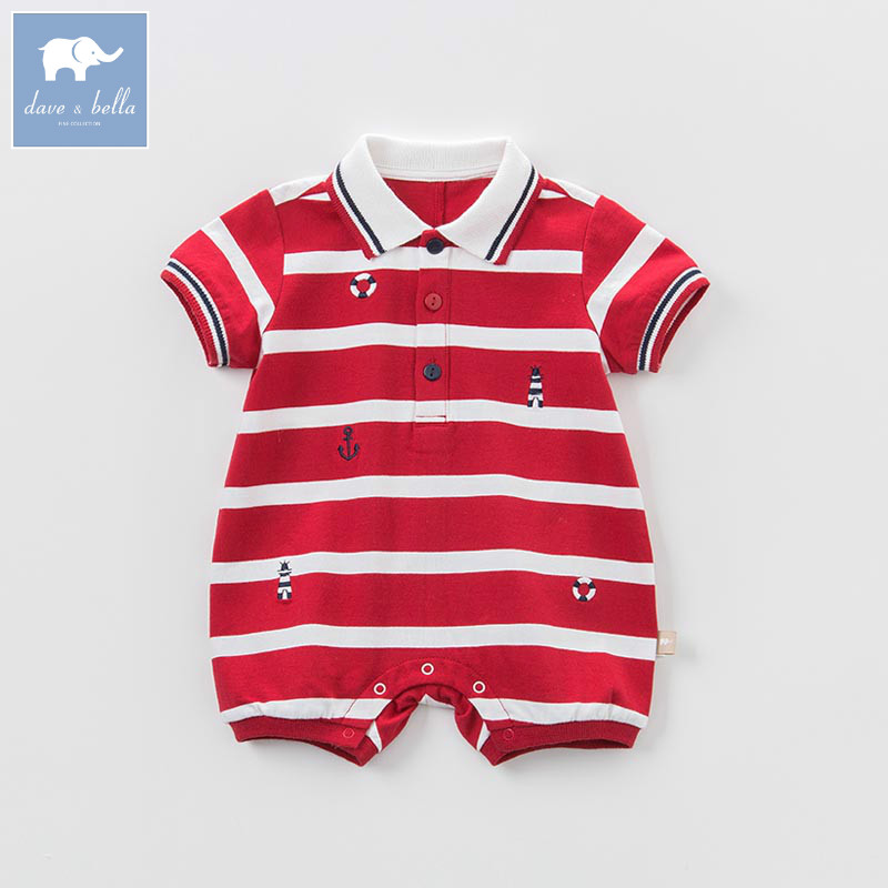 DB8284 dave bella summer baby boys new born cotton romper infant clothes cute children romper baby 1 piece dbm7508 dave bella summer baby girls new born cotton romper infant clothes cute children romper baby 1 piece