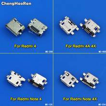 цена на ChengHaoRan 10pcs Mini Micro USB Charge Charging Dock Port Connector Socket Power Plug Jack For Xiaomi Redmi 4 4A 4X Note 4 4X