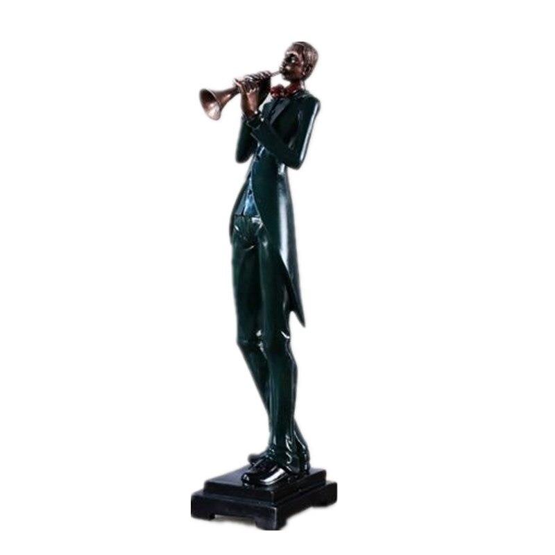Reçine El Sanatları Modern Müzik Grubu reçine heykeller ve Heykeller Avrupa Tarzı Süsler Ev Dekorasyon Aksesuarları R464