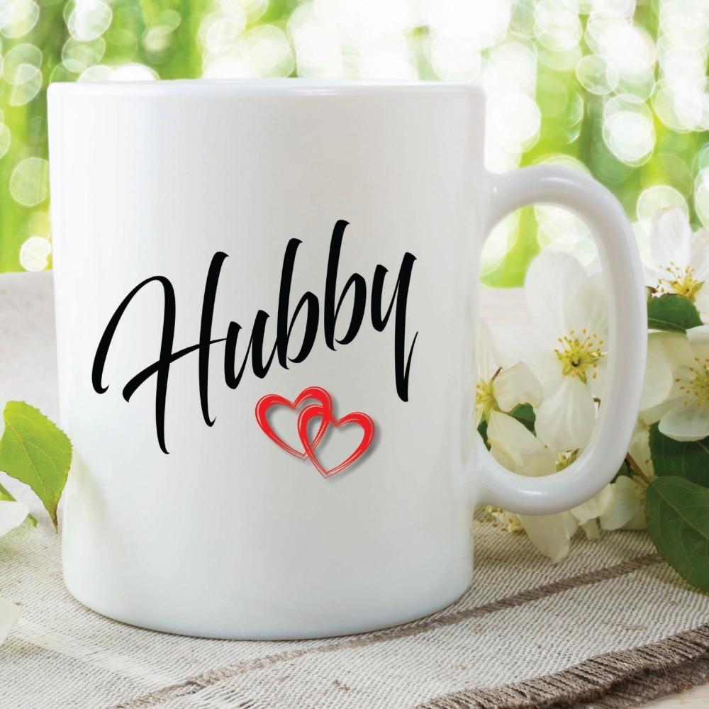 Hubby Husband Mugs Office Tea mugs kitchen Decor ceramic art home decal whisky wine beer milk tea porcelain coffee mug