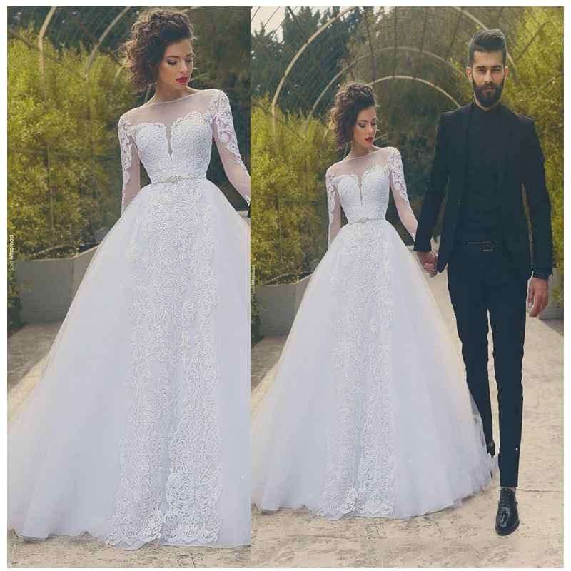 Elegant Wedding Ball Gowns: Luxury African Wedding Dresses Ball Lace Appliques