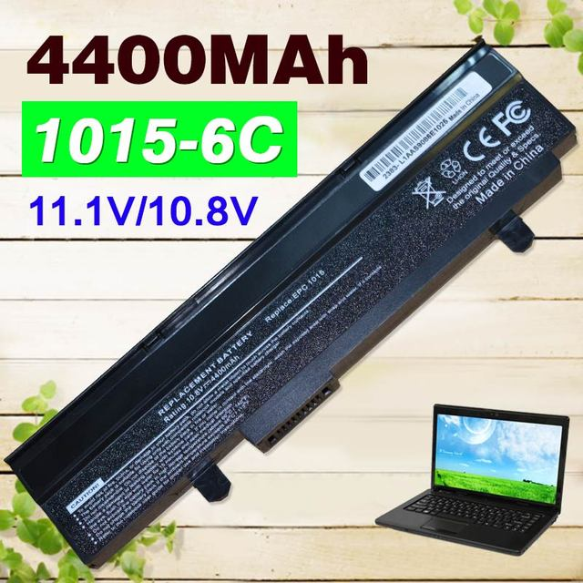 Black 4400mAh Battery For Asus Eee PC  EPC 1215  PC 1215B 1215N  1015b 1015 1015bx 1015px 1015p  A31-1015  A32-1015  AL31-1015
