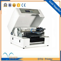 CE Standard DTG Flatbed Printer Digital Cotton Fabric Printing Machine Support White Ink