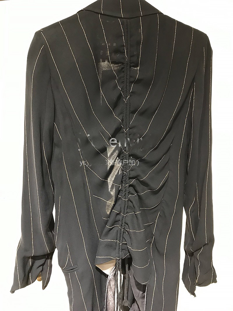 Manteau Femmes Yichenyiyi Rayé 2019 Printemps Veste Mince Mode EqnwwXACa