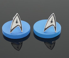 A Pair Star Trek Cuff Links Copper Material Novelty Movie Design Business Suit Accessaries