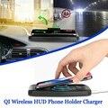 Qi Беспроводное зарядное устройство 5 Вт/10 Вт навигация автомобиля HUD Haed дисплей доска зарядная подставка для телефона iPhone для samsung huawei