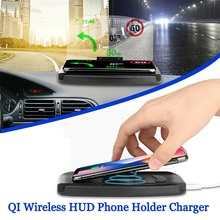 Qi Wireless Charger 5W/10W Navigation Car HUD Haed Display Board Charging Pad Phone Stand for iPhone for Samsung huawei