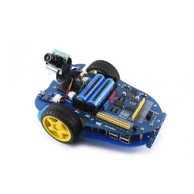Waveshare Raspberry Pi robot building kit include Raspberry Pi 3B AlphaBot RPi Camera IR control line tracking speed measuring