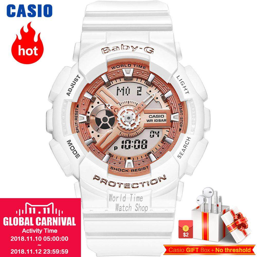 Online Shop Casio Watch 2017 Led Baby G Series Ba 111 3a Women 110sn Fashion Sports Waterproof Double Display Electronic 110 1a