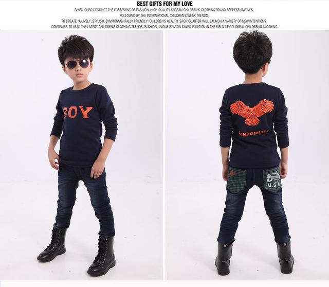 Children 's long - sleeved T - shirt winter bottoming shirt plus velvet thicker thermal shirt
