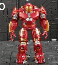 Marvel Avengers Hulkbuster Hulk Ironman Super Hero PVC Action Figure Collectible Modelo Brinquedos com Luz(China)