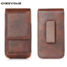 CHEZVOUS 360 Rotação Caso Clipe para Cinto Bolsa para iPhone 7 6 6 S Plus Saco Dos Homens Pacote de Cintura Holster Case Capa para 4.7 ~ 6.3 telefones
