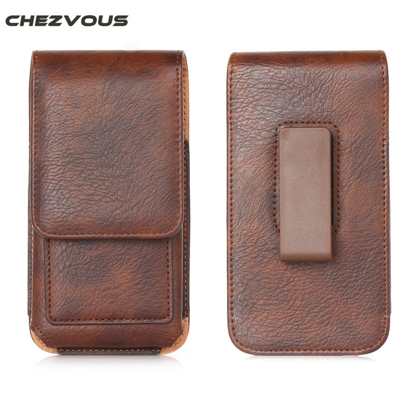 CHEZVOUS 360 Rotation Belt Clip Pouch Case för iPhone 7 6 6S Plus Holster Case Cover Bag Herr midjepack för 4,7 '' ~ 6,3 '' telefoner