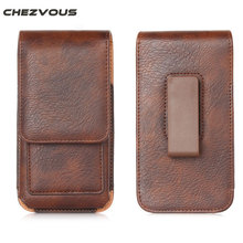 CHEZVOUS 360 Rotation Belt Clip Pouch Case for iPhone 7 6 6S Plus Holster Case Cover Bag Mens Waist Pack for 4.7''~6.3'' phones