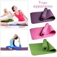 New Fitness Thick Yoga Mat Monochrome 6mm Environmentally Friendly Odorless Non-Slip High- Elasticity Comfortable Mat Pink 1 pc fangcan tpe single layer standard yoga mat skin friendly non toxic and environmentally friendly