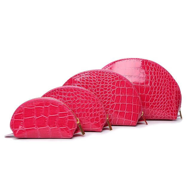 Макияж мешки 2016 новинка косметические крокодил клатч для женщин 4 компл. молнии конфеты сумки
