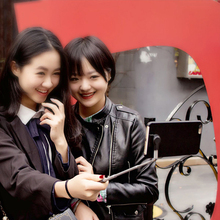 Bluetooth Handheld 360 degree horizontal rotation Aluminum StikBox Selfie stick Holer Phone Case For iPhone 7 Plus(China (Mainland))