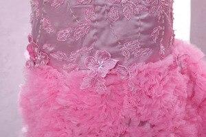 Image 5 - Prawdziwe zdjęcia różowe kochanie zroszony aplikacje Backless Mermaid suknie wieczorowe długość podłogi kaplica pociąg długie suknie balowe