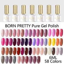 BORN PRETTY 58 Colors Gel Nail Polish Pure Nail Color Soak Off UV LED Gel Varnish SemiPermanent Lacquer Nail Art Design Manicure недорго, оригинальная цена