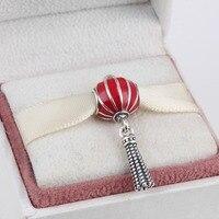 925 Sterling Silver Lantern Pendant Charm Fit Original Pandora Bracelet Bangle Authentic DIY Jewelry