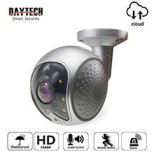 DAYTECH Wireless IP Camera Waterproof Outdoor 1080P 2MP Panoramic Security WiFi Camera Audio Motion detection Alarm Cloud Record digoo dg w02f cloud storage 3 6mm lens 720p waterproof outdoor wifi security ip camera motion detection alarm web service