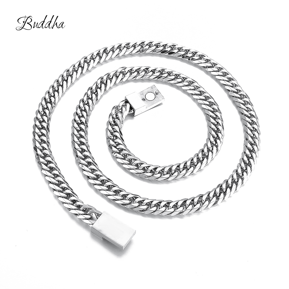 Stainless Steel Buddha Necklace Chain High Quality Titanium Steel Cuba Chain To Men Women Jewelry Buddha Gifts ZTN510-5Stainless Steel Buddha Necklace Chain High Quality Titanium Steel Cuba Chain To Men Women Jewelry Buddha Gifts ZTN510-5