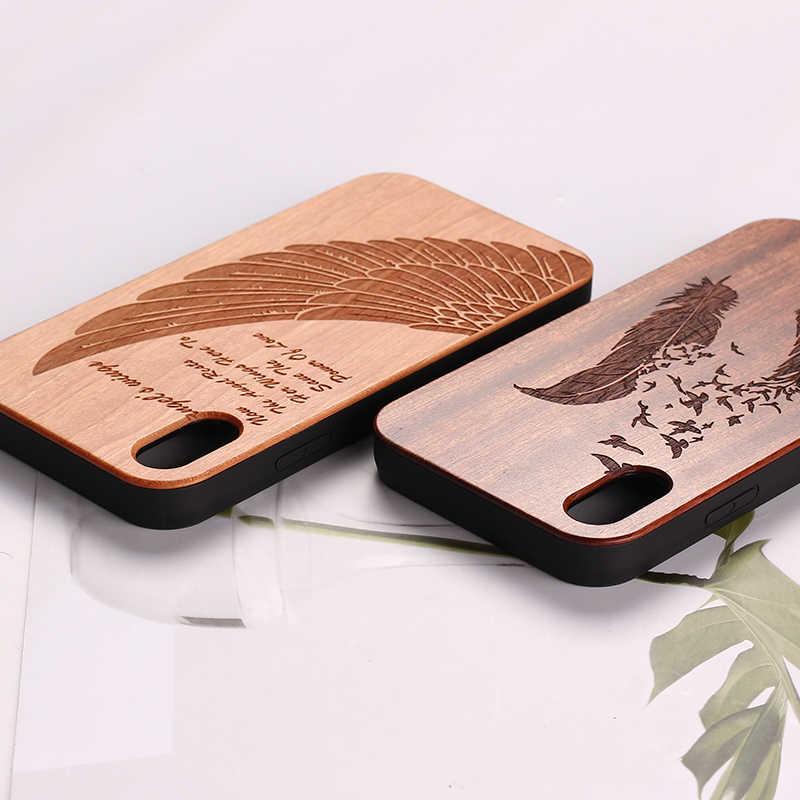 Para o iphone 5S 6 6 S 7 7 Além de Madeira de Cerejeira Do Vintage Floral Veado Alces Ancher Caso Fundas Coque Para SAMSUNG S7 Borda S8 plus S9 S9 Plus