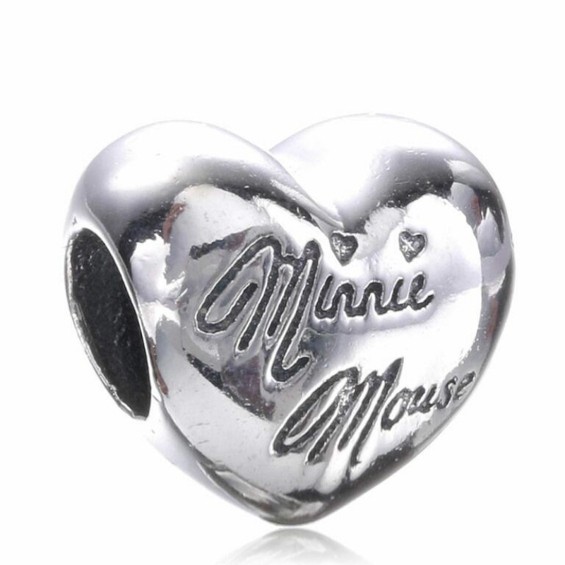 High Quality 925 Sterling Silver Love Heart Letters Beads Fits Original Pandora Style Charm Bracelets & Necklaces DIY accessorie