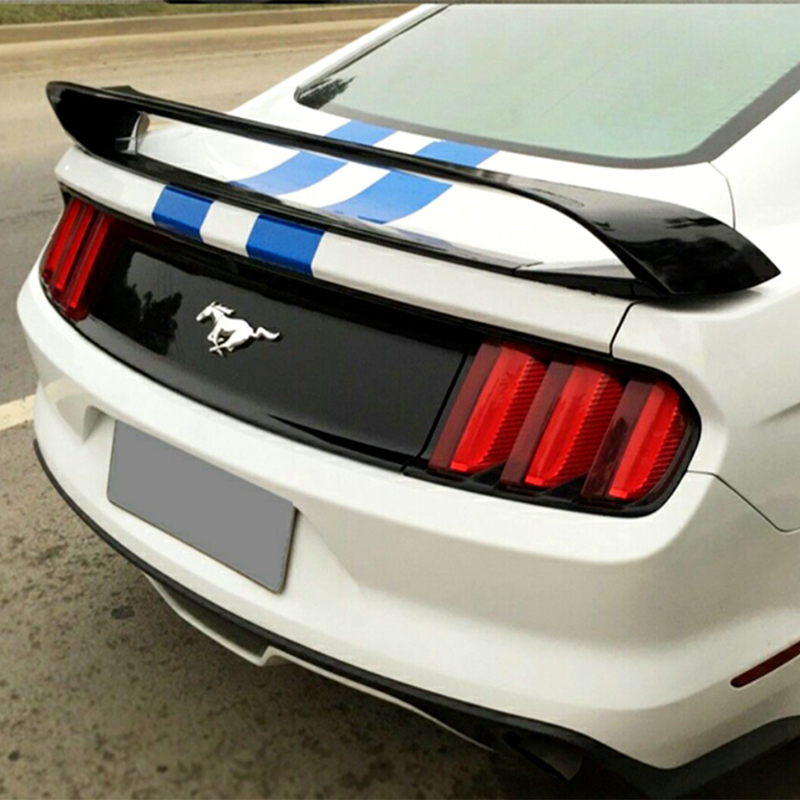 High hardness and quality ABS material for Ford Mustang 4 segment GT rear wing spoiler 2015 2016 2017 by primer or any paintHigh hardness and quality ABS material for Ford Mustang 4 segment GT rear wing spoiler 2015 2016 2017 by primer or any paint