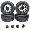 4pcs/Lot 2.2 Rubber RC 1/10 Truck Tires Wheel Rim 12 Hex For Exceed Redcat Axial Tamiya Traxxas HPI HSP Monster