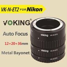 Voking Macro enfoque automático anillo tubo de extensión VK-N-ET2 para Nikon D7100 D5200 D3100 D90 D800 D800E D5100 D7000 D3100 DSLR cámaras