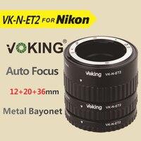 Voking Extension Tube Set Adapter Ring VK N ET2 For Nikon DSLR Cameras