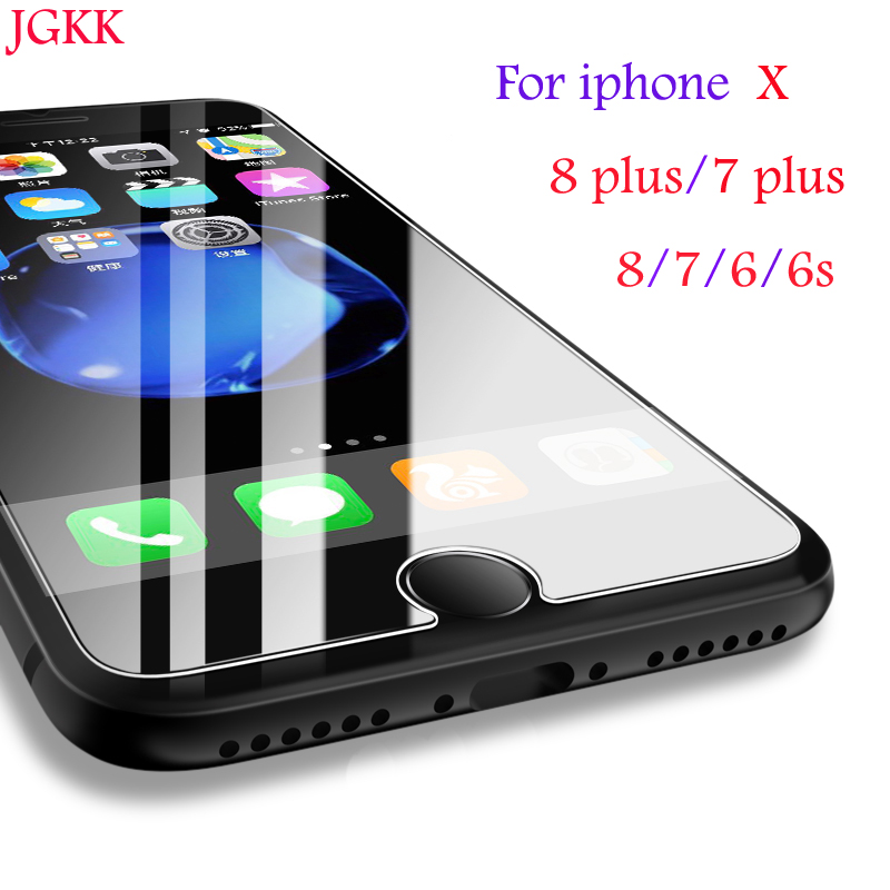 JGKK Premium Tempered Glass for iPhone X screen protector
