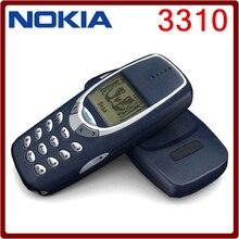 3310 abierto Original Nokia 3310 barato 2 G GSM soporte ruso y árabe teclado reformado teléfono celular 5 unids DHL libera el envío