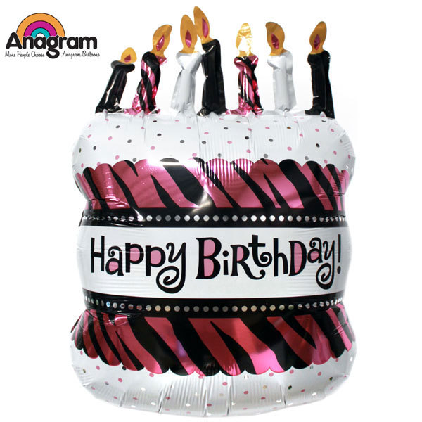 2pcs Big Size Oh So Fabulous Birthday Cake Anagram Foil Balloons In