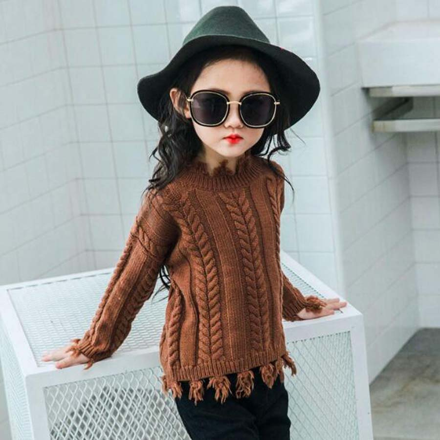 Baby girls sweater Toddler Kids Spring Autumn clothes girls Pullovers tops Winter Knit Loose Top for 2-9years child outwear baby girls clothes raglan tops v day raglan girls red heart raglans autumn top girls valentines day icing raglans tshirt