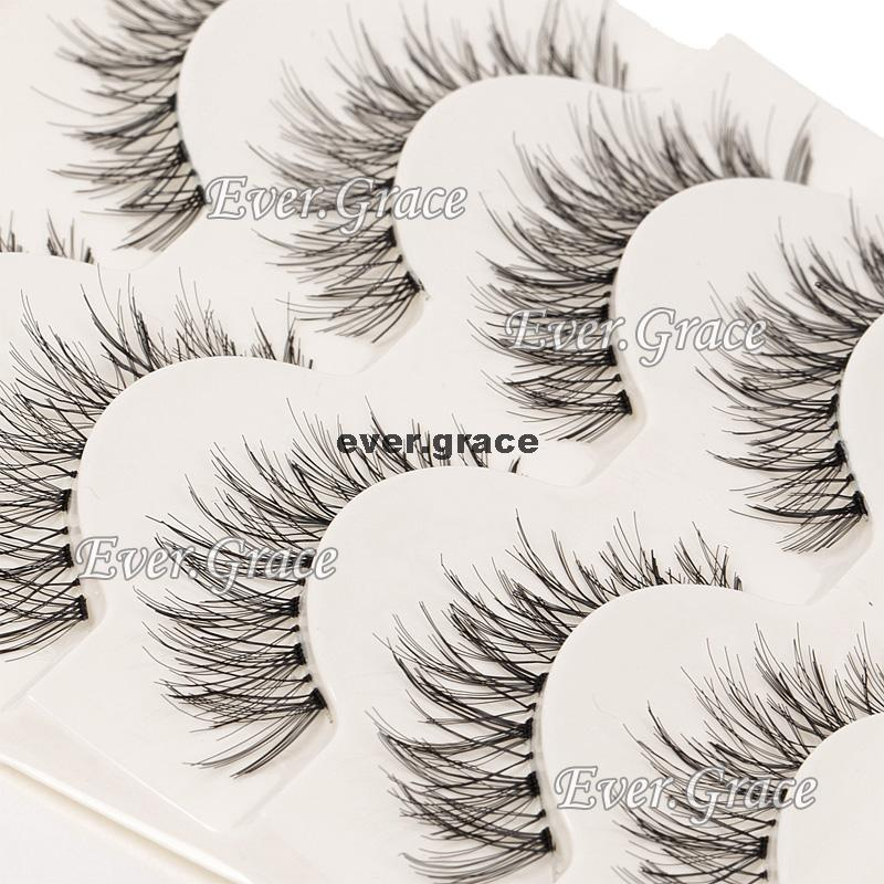 5 Pairs Reusable Fashion False Natural Long Eyelashes Eye Lashes Makeup Cosmetic