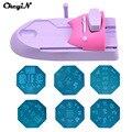 CkeyiN DIY Nail Art Printer Pattern Nail Stamping Printing Machine+6 Metal Pattern Plates+1Pattern Chart Salon Nail Tools Sets