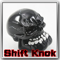 Universal Manual Gear Stick Shift Shifter Lever Knob Wicked Carved Black Skull pomo marchas Freeshipping D05