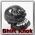 Universal Manual engrenagem vara mudança Shifter Lever Knob mau esculpido crânio preto pomo marchas Freeshipping D05