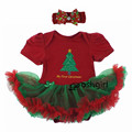 2017 Christmas Gifts Newborn Baby Costume Girl Princess Santa Suit Novelty Costume Halloween Party Clothing Sets 3 6 9 12 18 24M