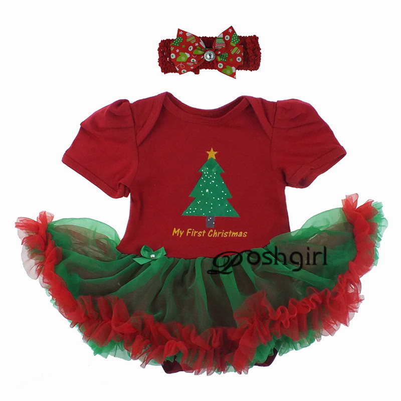2019 Christmas Gifts Newborn Baby Costume Girl Princess Santa Suit Novelty Costume Halloween Party Clothing Sets 3 6 9 12 18 24M