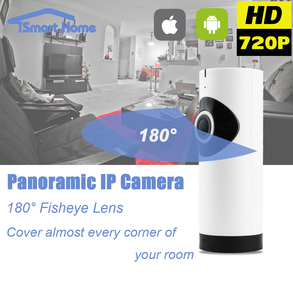 Fisheye 360 Degree Panoramic Wirelss IP Night Vision font b Camera b font WIFI P2P Onvif
