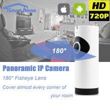 Fisheye de 360 Grados Panorámica IP Wirelss Cámara de Visión Nocturna WIFI Tarjeta SD de la Cámara de Red P2P Onvif IOS Android Oculta En Casa Cam