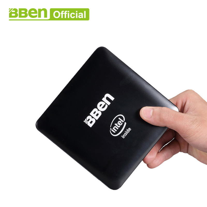 Bben-Mn11 Mini PC ordinateur boîte avec intel z8350 cpu, 4 gb/64 gb EMMC, ou 2 gb/32 gb, LAN WIFI windows10 mini pc