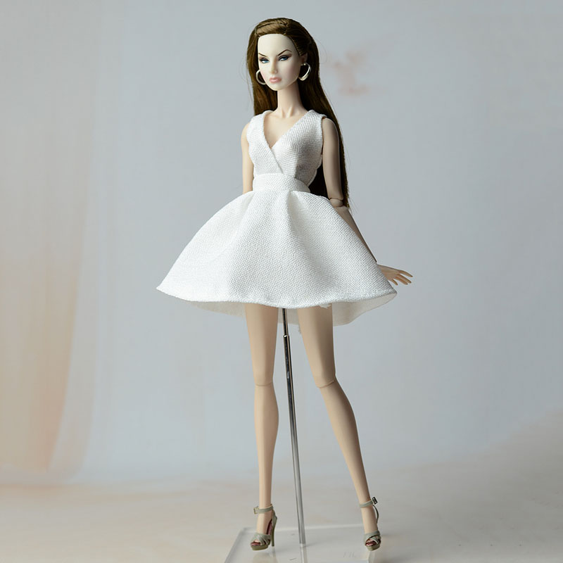 Coral and White Ball Gown Made to Fit Barbie Doll   doll not included