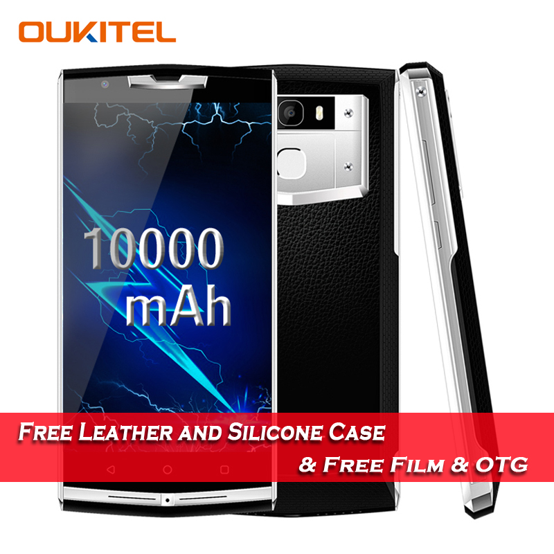 "Oukitel K10000 Pro MT6750T Octa Core Android 7.0 Smartphone 3GB RAM 32GB ROM 5.5"" FHD 10000mAh 12V/2A Quick Charge 13.0MP Camera"