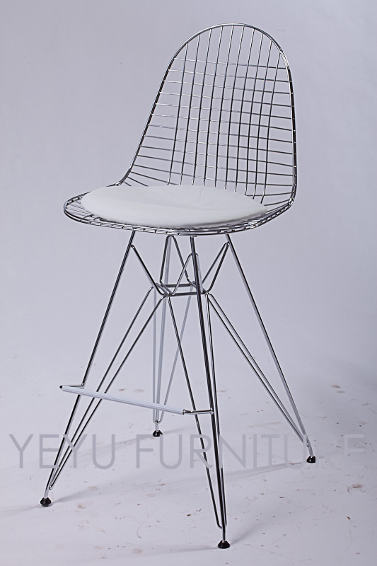 Minimalist modern design metal steel wire bar chair wire for Metal living room chairs