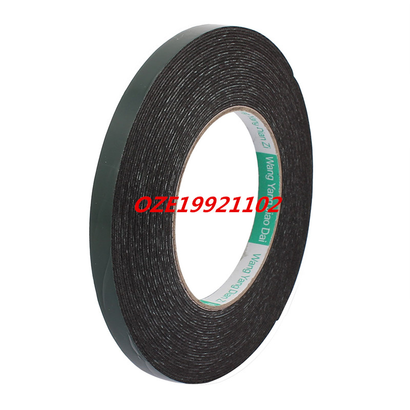 10M x 10mm x 1mm Double-side Self Adhesive Shockproof Sponge Tape Green 10m 40mm x 1mm dual side adhesive shockproof sponge foam tape red white