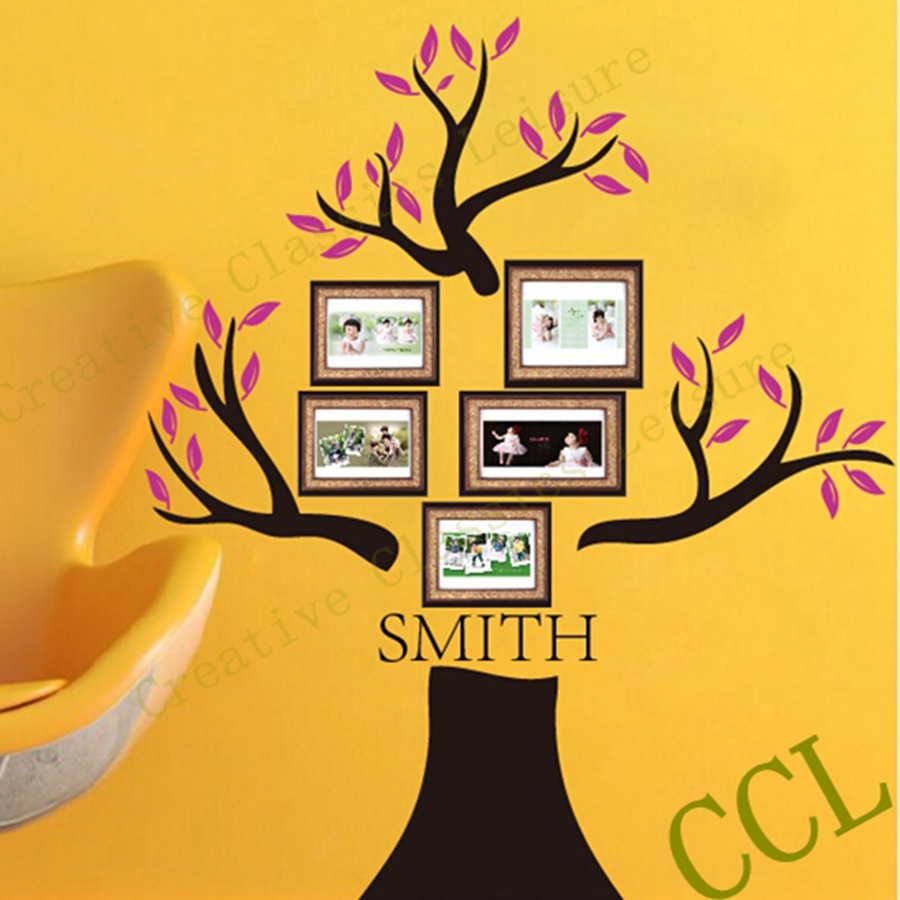 Large Family Tree Wall Decal Personalized with family name 190x180cm ...